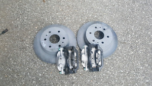 New Rear Brakes Rotors Calipers and Pads
