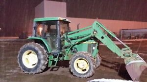 1995 6200 John Deere Tractor w/640 Loadr and HLA3500 7ft SPusher