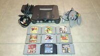 N64 bundle with games *Ocarina, Diddy kong racing, 007 Goldeneye