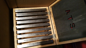 1/4 thick Tool Steel Parallel Set