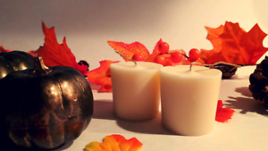 All Natural Votive Candles made with Non-GMO Soy Wax, Beeswax an