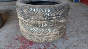 Pair of 2 General Altimax HP 205/55R16 tires (65% tread life)