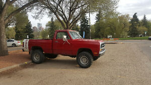 1st Gen 1981 Dodge Short Box 4×4 Decent Condition