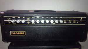 VINTAGE TUBE AMP HEAD  (MANN) MODEL GW100TRH