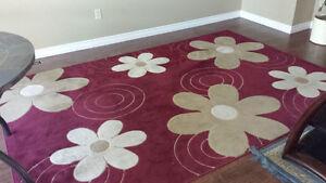 Designer Area Rug with Floral Design