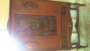 Solid walnut cabinet
