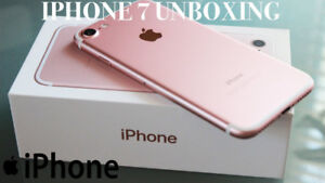 BRAND NEW FACTORY UNLOCK ROSE GOLD IPHONE 7 32 GB FOR SALE.