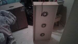 3 display spotlights in nice wooden cabinets (2 in total)