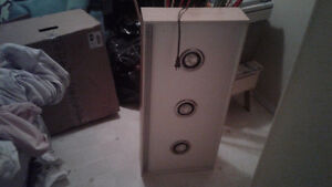 3 spotlights in nice wooden cabinets (2 in total)