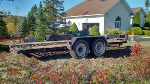 Heavy Duty 16'  Car / Equipment Trailer
