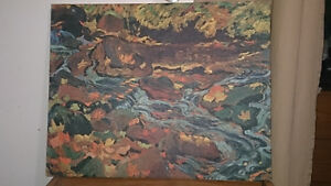JEH MACDONALD - OIL ON CANVAS REPRODUCTION 24 x 19
