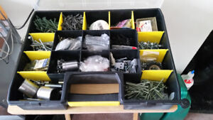 Assorted Screws  and Bolts in cases