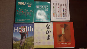 UWO Textbook Chemistry, Health Science, Japanese and Music