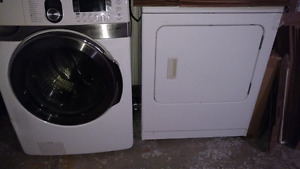Front load washer and electric dryer