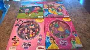 DISNEY STORY BOOKS AND ACTIVITY SETS