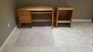 Computer Desk with Side Cabinet Kitchener / Waterloo Kitchener Area image 1