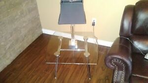 Glass/Chrome End Tables