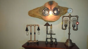 Hand made Steampunk lamps