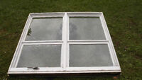 Large wood frame window