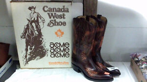 Canada West Cowboy Boots (mens approx size 9-10)
