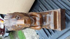 Large Lion Carving $40. 10 inches tall by 13 inches long. Prince George British Columbia image 4