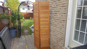 A GREAT BUY !  LiKE NEW ! SOLID PINE LOUVERED CLOSET  DOORS