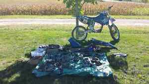 2001 yz250f tons of extras! Trade for snowmobile!