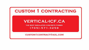 ICF construction Cambridge Kitchener Area image 1