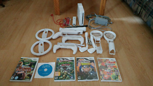 Nintendo Wii with lots of accessories!