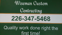 Residential construction and home renovation services.