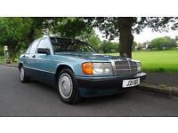 MERCEDES 190 E 2.0, Turquoise, Auto, Petrol, 1991
