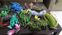 Ornaments and artificial aquarium plants