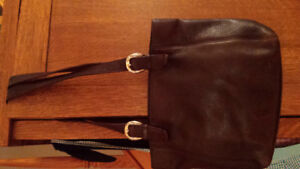 A.Gianneti-Italian LEATHER Purse Brown- EX Cond