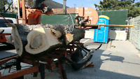 Custom woodmizer portable bandsaw mill for hire