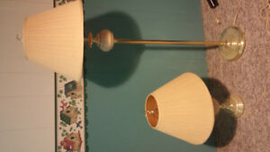 One floor lamp and one matching table lamp