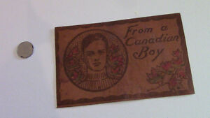 Unused Leather Postcard: From A Canadian Boy