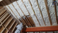 Attic Insulation-Spray Foam Insulation-Fireproofing-Batts&poly.
