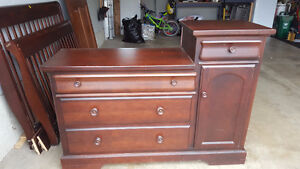 Solid Cherry Dresser and Change Table