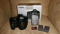 Canon 5D dslr and Canon 50 1.8 I metal mount lens