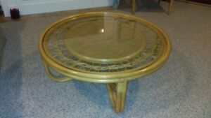 Rattan Coffee Table - Natural Finish