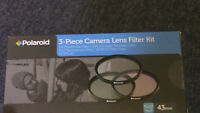 NEW Polaroid 43mm Camera Lens Filter Kits - $20 for a set of 3