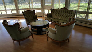 Antique Belgium Sofa and 3 Chairs