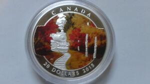 2015 $20 Fine Silver Coin - Autumn Express