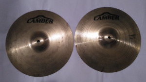 Cymbale Hi-hat Camber Top + BOT 13 pouc Batterie Drum Cymbal