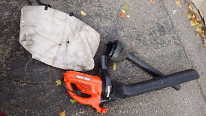 Black and Decker Electric Leaf Blower and Sucker