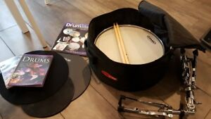 Dixon Snare Drum w/t Stand, Sticks, Pad, and Tutorial