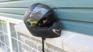 Black full face helmets almost new XL and MED