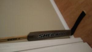 Hockey goalie Sher-wood stick