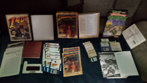 Vintage PC games and books.
