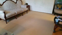 Like BRAND NEW Very LARGE9X12 FT Beige / Light Khaki brown Rug